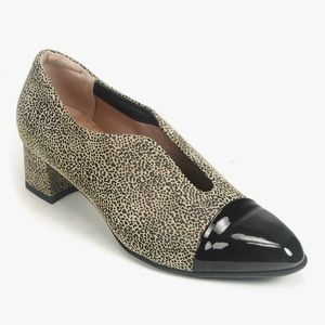 BeautiFeel Meryl Loafer Pump Leopard Black 8-8.5